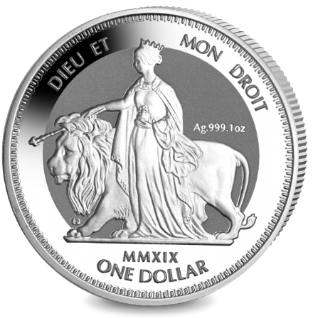 2019 1oz Silver Una and Lion